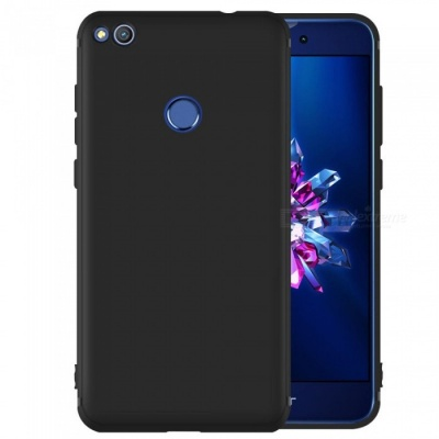 Dayspirit Protective Matte Frosted TPU Back Case for Huawei Honor 8 Lite, P8 Lite (2017) - Black