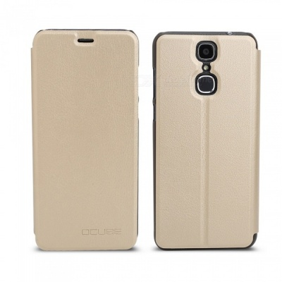 OCUBE Protective Flip-open PU Leather Case for Cubot X18 5.7 Inches - Golden