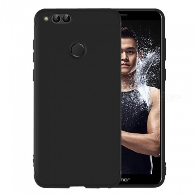 Dayspirit Protective Matte Frosted TPU Back Case for Huawei Honor 7X - Black