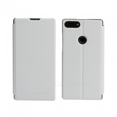 OCUBE Protective Flip-open PU Leather Case for Vernee Mix 2 6.0 Inches - White