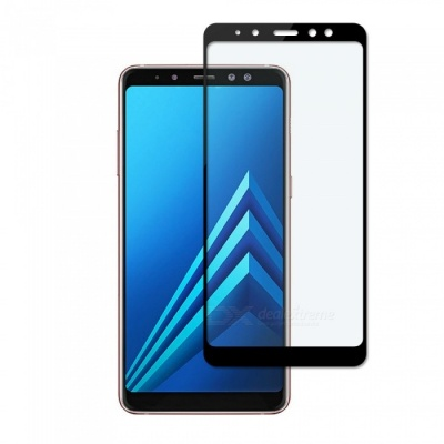 Dayspirit Tempered Glass Screen Protector for Samsung Galaxy A8+ (2018), A730 - Black