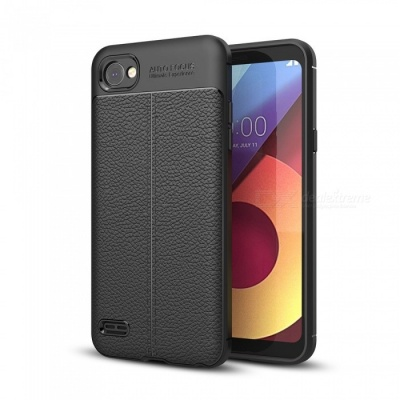 Dayspirit Lichee Pattern Protective TPU Back Cover Case for LG Q6 - Black