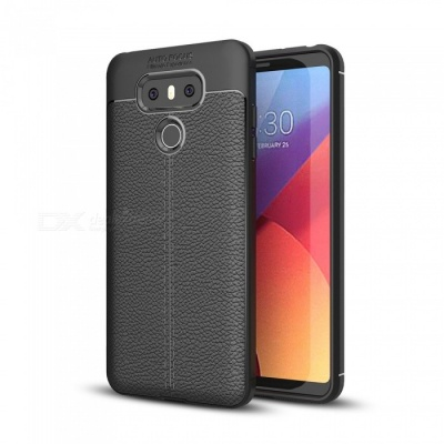 Dayspirit Lichee Pattern Protective TPU Back Cover Case for LG G6  - Black