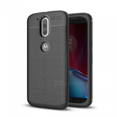 Dayspirit Lichee Pattern Protective TPU Back Cover Case for Moto G4, G4 Plus - Black