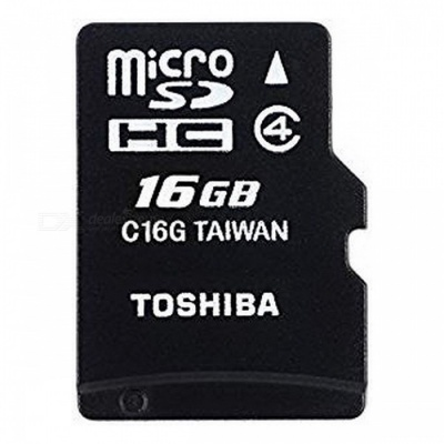 Toshiba High Speed M102 16GB Micro SD Memory Card Class 4 with Adapter - THN-M102K0160M2