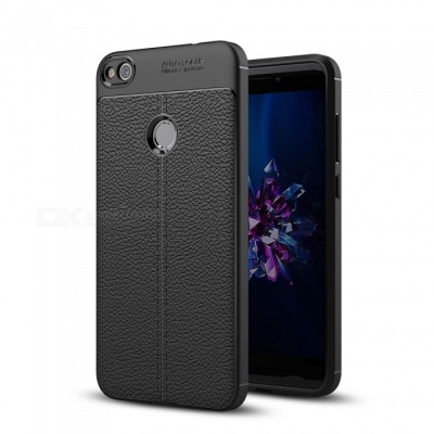 Dayspirit Lichee Pattern Protective TPU Back Cover Case for Huawei P8 Lite (2017) , Honor 8 Lite - Black