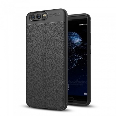 Dayspirit Lichee Pattern Protective TPU Back Cover Case for Huawei P10 - Black