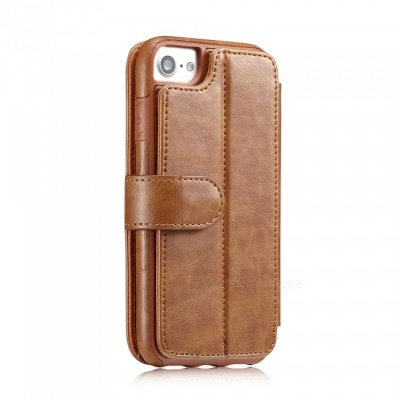 Measy Fashionable PU Leather Wallet Case for IPHONE 7/8 - Brown