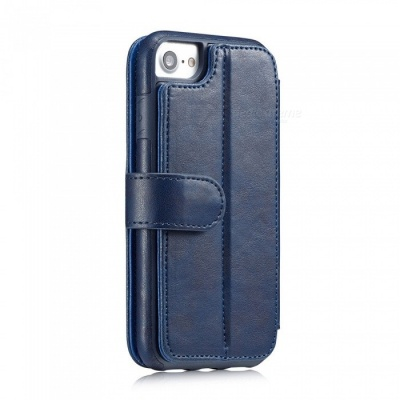 Measy Fashionable PU Leather Wallet Case for IPHONE 7/8 - Blue