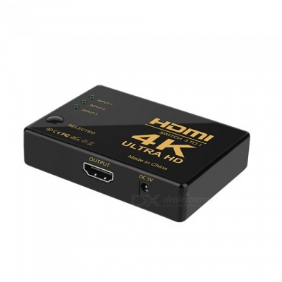 HD HDMI Switcher 3 In 1 Out Computer 4K Connector HDTV Video Splitter