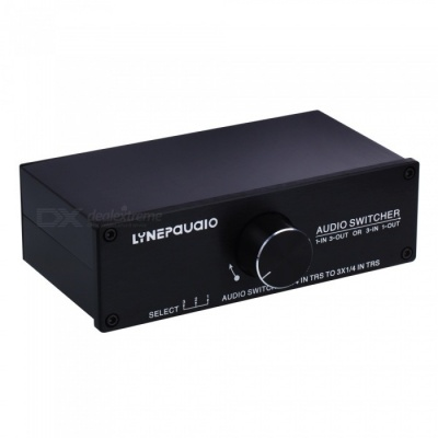 1 In 3 Out or 3 In 1 Out Passive Stereo Loudspeaker Audio Switcher - Black