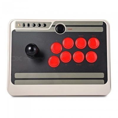 NES30 Wireless Bluetooth Arcade Rocker / USB Game Switch Stick for Computer, Mac, Android Mobile Phones