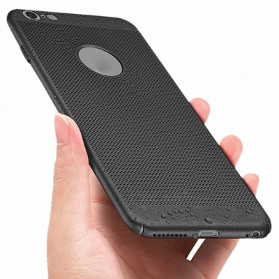 Hollow Carved Cooling PC Phone Case, Back Cover for IPHONE 6 / 6s - Black