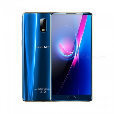 """KOOLNEE K1 Trio Android 7.1 4G 6.01"""" Phone with 6GB RAM, 128GB ROM, 4200mAh Large Battery - Blue"""