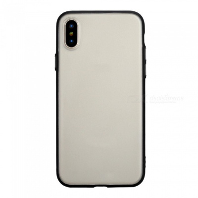 Matte Protective Plastic Back Cover Case for IPHONE X - Translucent Black