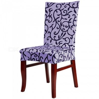 Elastic Half Chair Cover for Hotel Banquet Office - Purple