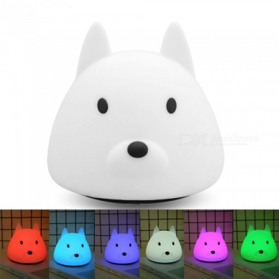YouOKLight USB Rechargeable 3-Mode Colorful Silicone Animal LED Night Light w/ Touch Sensor for Baby Children Gift