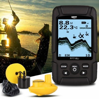 LUCKY FF718LiD Real-waterproof Fish Finder w/ 200KHz/83KHz Dual Sonar Frequency, 100m Detection