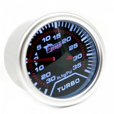 IZTOSS B3067 12V Modified Automobile Instrument Car Boost Gauge PSI with White Light- Silver