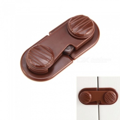 Mini Biscuits Shape Security Lock for Children - Brown (2 PCS)