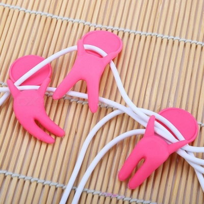 Plastic Wire Cable Mark Labels - Pink (3 PCS)