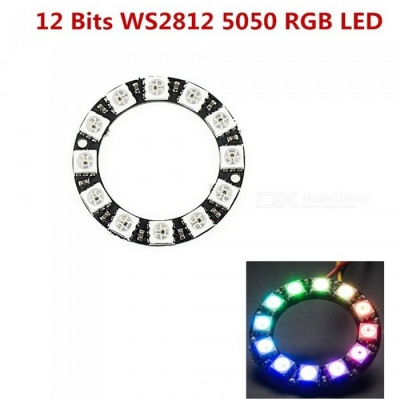 Produino 12-Bit WS2812 5050 RGB LED Ring Round  Integrated Driver Module For Arduino