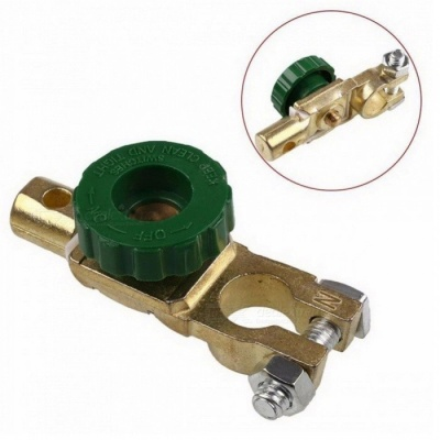 OJADE Car Motorcycle Battery Terminal Link Quick Cut-off Switch, Rotary Disconnect Isolator