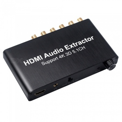 Portable 4K 3D 5.1CH HDMI Audio Extractor