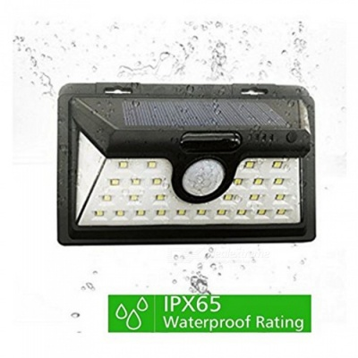 ZHAOYAO IP65 Waterproof Outdoor Solar Lamp, 2835SMD-34LEDs Garden LED Light (1 PC)