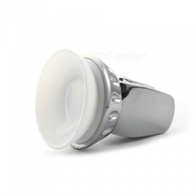 Car Air Vent Flexible Metal 360 Degree Rotating Clip Phone Holder with Strong Suction Cup - Silver