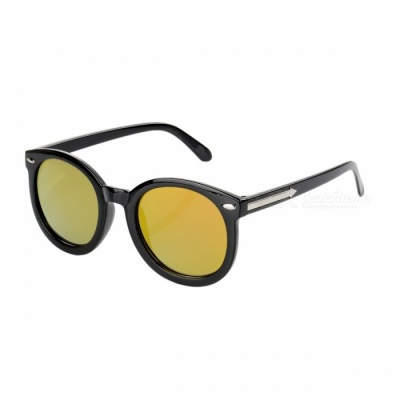 5903 Reflective Fashion UV400 Protection Sunglasses for Women - Yellow