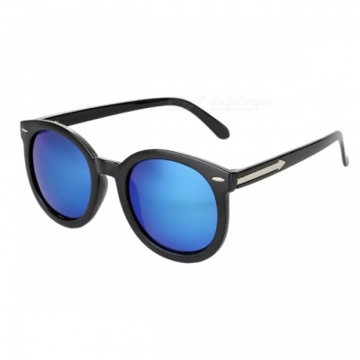 5903 Reflective Fashion UV400 Protection Sunglasses for Women - Blue