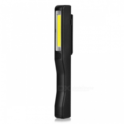 Mini USB Rechargeable COB LED Super Bright Cold White Inspection Working Light with Clip, Magnetic Strip - Black