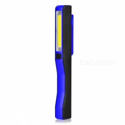 Mini USB Rechargeable COB LED Super Bright Cold White Inspection Working Light with Clip, Magnetic Strip - Blue