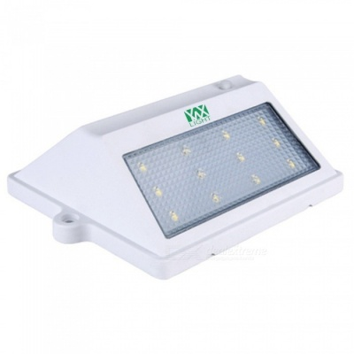 YWXLight Waterproof 2835SMD 12-LED Solar Panel Rechargeable Outdoor Wall Garden Light