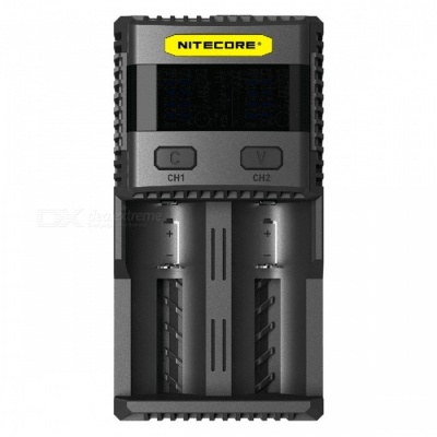 Nitecore SC2 3A Quick Charge Intelligent Battery Charger - Black (US Plug)