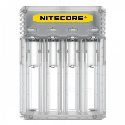 Nitecore Q4 Series Cute 2A Quick Charger for IMR / Li-ion Battery - White (US Plug)