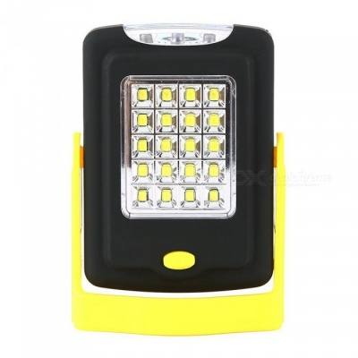 ZHAOYAO 5W Multi-function Outdoor Lighting 20-2835 SMD LEDs Working Light with Bracket + Magnet + Hook - Black + Yellow