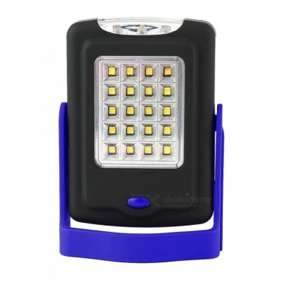 ZHAOYAO 5W Multi-function Outdoor Lighting 20-2835 SMD LEDs Working Light with Bracket + Magnet + Hook - Black + Blue