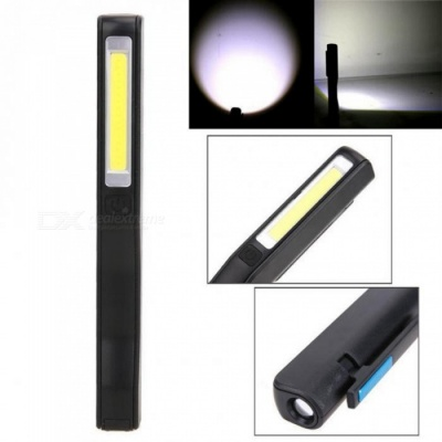 ZHAOYAO USB Charging Mini Pen Multifunction COB LED Magnetic Torch Light Working Inspection Lamp - Black