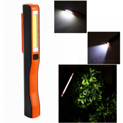 ZHAOYAO USB Charging Mini Pen Multifunction COB LED Magnetic Torch Light Working Inspection Lamp - Black +Orange