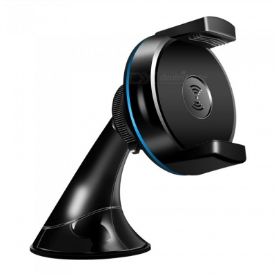 Keliam Car Wireless Phone Holder Charger, Suction Cup GPS Car Holder - Black