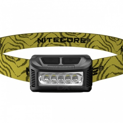Nitecore NU10 Portable Rechargeable White Red Double LED Headlamp - Black