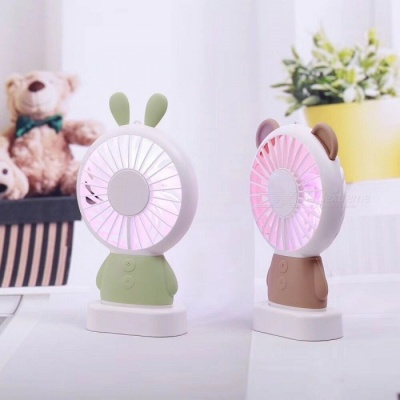 Cute Rabbit Style Plastic USB 2.0 Powered 7-Blade Cooling Fan - Green