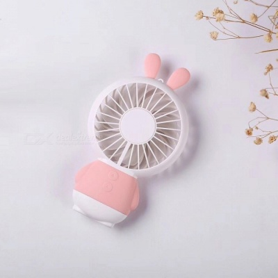 Cute Rabbit Style Plastic USB 2.0 Powered 7-Blade Cooling Fan - Pink