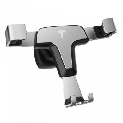 ZHAOYAO Universal Car Air Outlet Metal Mount Holder for Mobile Phone, GPS - Silver