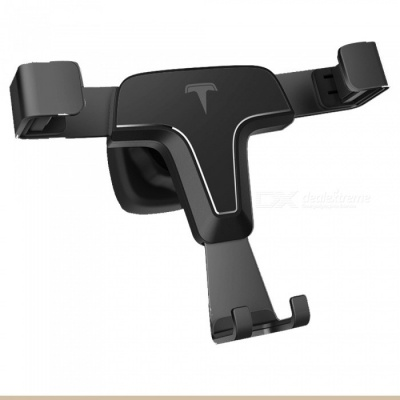 ZHAOYAO Universal Car Air Outlet Metal Mount Holder for Mobile Phone, GPS - Black