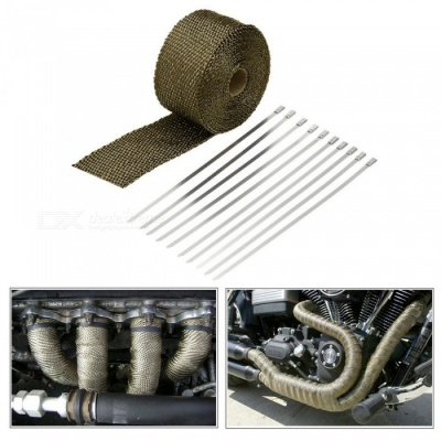 10m Heat Exhaust Pipe, Heat Shield Thermo Turbo Wrap Tape Kit for Car Truck