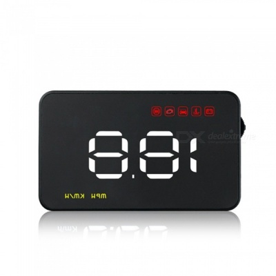 A100 Car Auto HUD Head Up Display w/ OBD Cable, Overspeed Warning Function