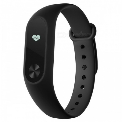 "Global Version Xiaomi Mi Band 2 Smart Bracelet Watch Wristband w/ 0.42"" OLED Touch Screen - Black"